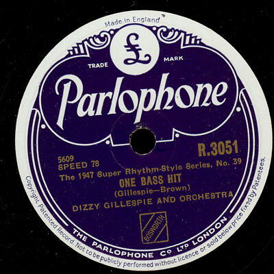 DIZZY GILLESPIE & ORCHESTRA  One bass hit / Things to come  -Modern Jazz-  X1196