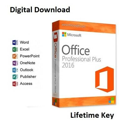 Original Office 2016 Professional Plus 32/64 Bit Full Version Genuine