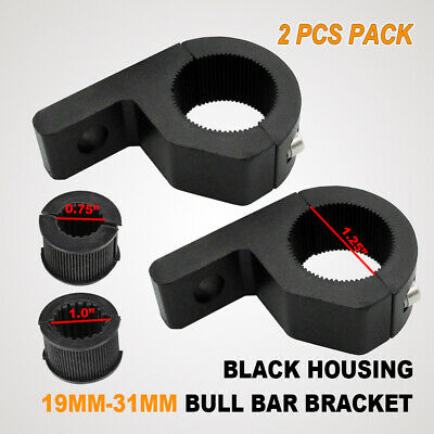2x 20MM-25MM BULLBAR ROOF RACK MOUNTING BRACKET PIPE TUBE CLAMP LED LIGHT BAR