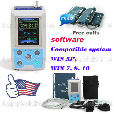 """24h NIBP 2.4""""TFT Holter Ambulatory Blood Pressure Monitor ABPM50 + oximetry"""
