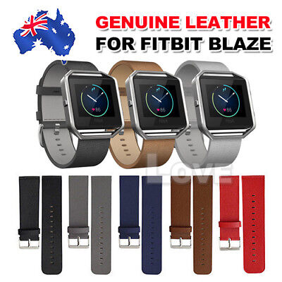 Replacement Genuine Leather Wrist Watch Band Strap For Fitbit Blaze Wristband