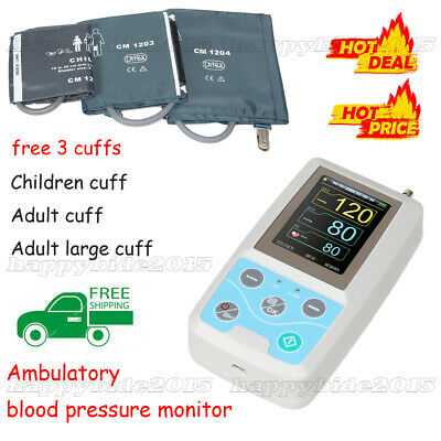 24h NIBP Holter Ambulatory Blood Pressure Monitor With 3 cuffs.free softeare