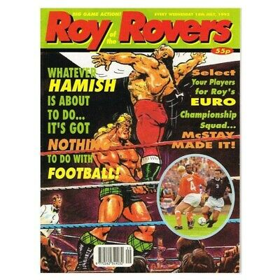 Roy of the Rovers Comic  July 18 1992 MBox2797 Whatever Hamish is about to do...