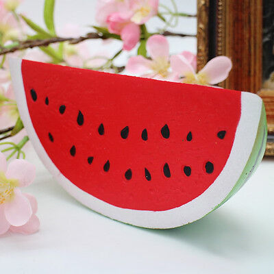 US STOCK Slow Rising Squishy Jumbo Watermelon Fruit Scented Bread Squeeze Toy