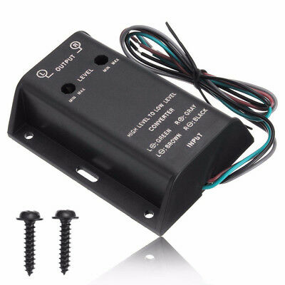 Car Audio RCA Speaker High To Low Level Line Output Converter With Adapter Wire