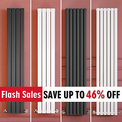 White Anthracite Chrome Black Vertical Designer Radiator Tall Upright Rads