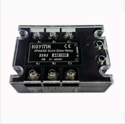 Hoymk SSR3-A4810HK 10A 3 Phase Solid State Relay AC-AC SSR3 A4810HK