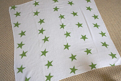 Soft Aden + Anais 100% Muslin Cotton Swaddle Baby Blanket 120*120 cm Green Star