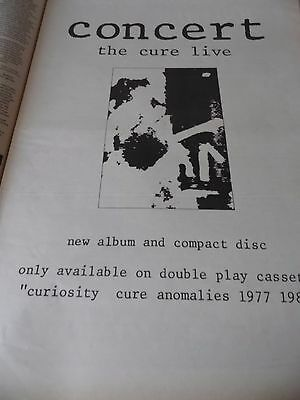 """The Cure """"concert"""" 1984  Advert Full Page A3"""