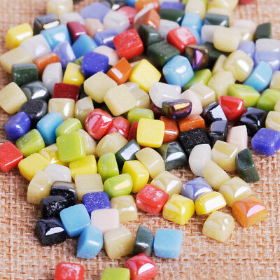 """50g 3/8"""" Mini Vitreous Glass Mosaic Tiles Wall Craft Various Mixed Stained Drops"""