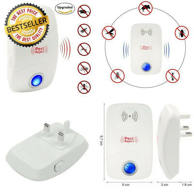 Electronic Ultrasonic Anti Spider Mouse Rodents Rat Cockroach Repellent Original