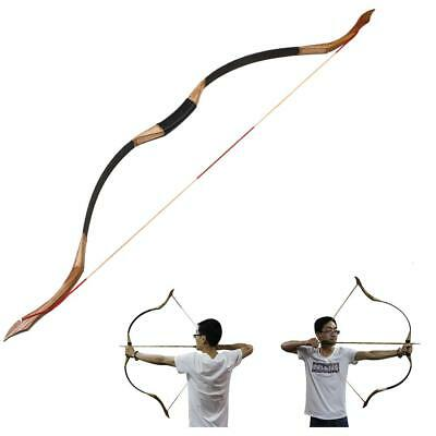 "30-50Lb Traditional Handmade 53"" Recurve LongBow Archery Hunting Right Left Hand"