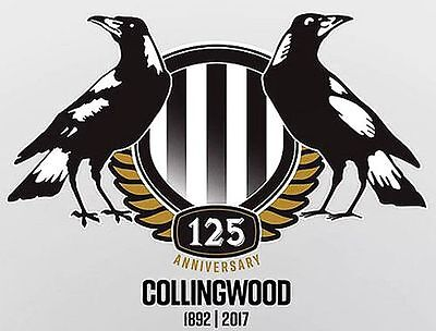Collingwood Magpies AFL 125 Years Anniversary 1892-2017 Sticker or Magnet