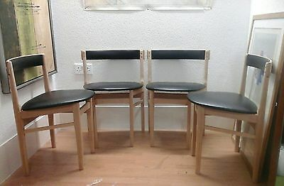 4 x GPlan dining chairs in beech , please contact for shipping quotes