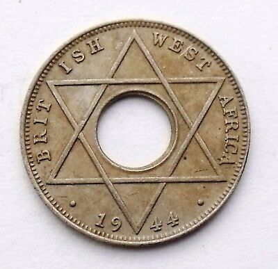 British West Africa 1/10 Penny 1944 King Georgius Vi - With Hole