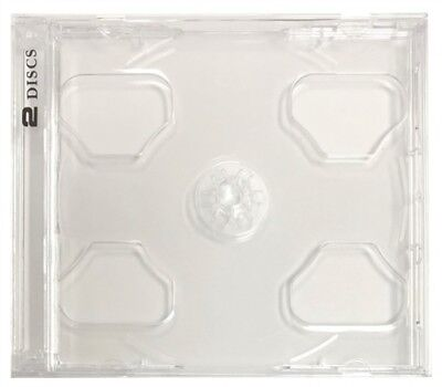 10 STANDARD Clear Smart Tray Double CD Jewel Case