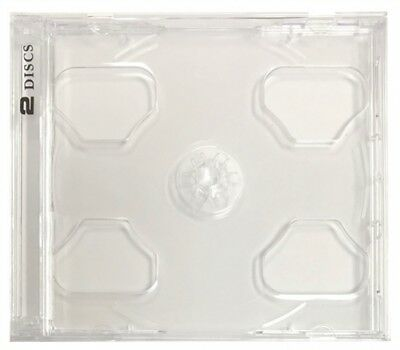 25 STANDARD Clear Smart Tray Double CD Jewel Case