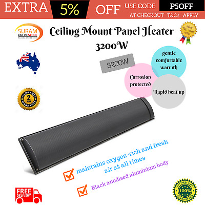 Radiant Wall and Ceiling Mount Panel Heater 3200W rapid heat up Water resistant