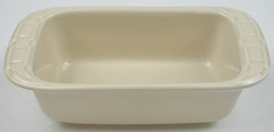Longaberger Pottery Woven Traditions Ivory Pattern Mini Loaf Pans Home Decor