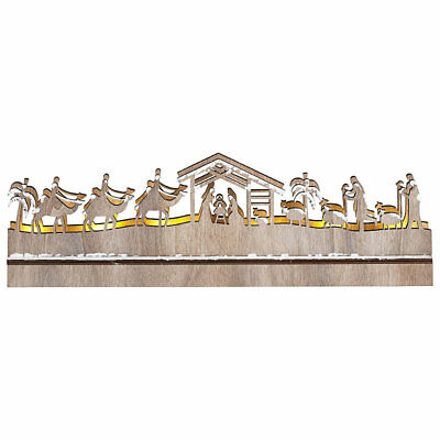 Light Up LED Nativity Scene, 38cm x 11cm - Perfect for a Windowsill
