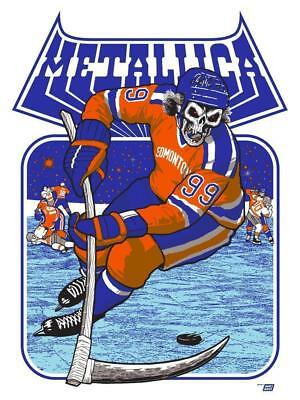 Metallica Edmonton, Alberta, Canada Signed & Numbered poster by Ames Bros Hockey