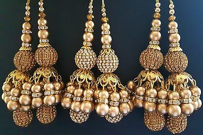 Beautiful Gold Decorative Tassels Latkans Crafts Sewing Blouses Sarees Skirts