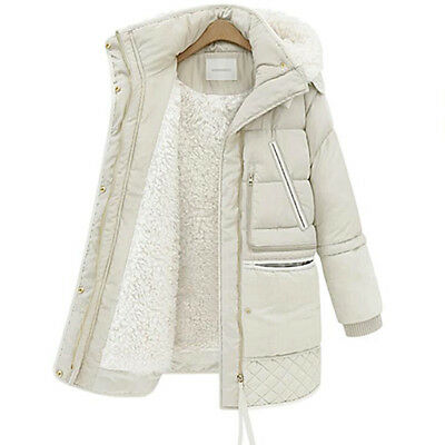 e4e551e8f3e5 New Ladies Quilted Padded Puffer Bubble Fur Collar Warm Thick Womens Jacket  Coat