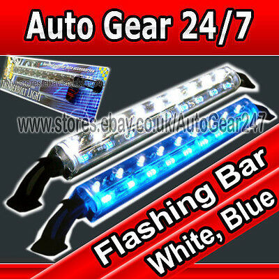 12V Auto Transporter Boot Limousine Home Case Display Blink weiss blau