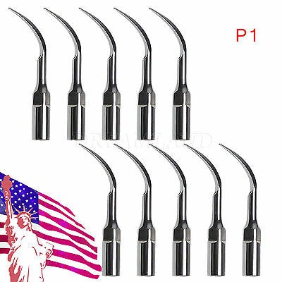 10Pcs Perio Tips P1 For Dental EMS Woodpecker Ultrasonic Scaler Handpiece TD/Q