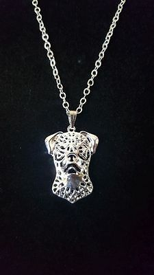 "Rottweiler Dog Necklace, 18"" chain"
