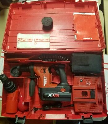 Hilti TE 6-A 36V Cordless Rotary Hammer Drill W/Case - Charger - EXTRAS LOOK
