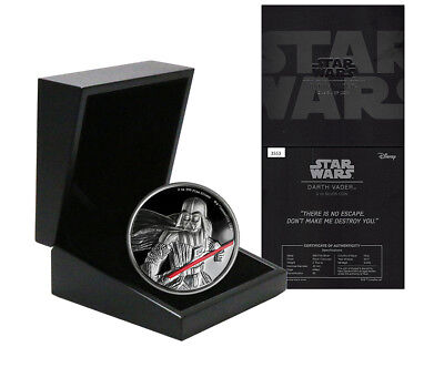 Niue Disney Star Wars $5 Dollars, 2 oz. Silver Proof Coin, 2017,Mint,Darth Vader