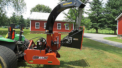 "Demoed 2016 Pequea Cx551 Hydraulic Feed 5"" Chipper For Tractors Pto Drive"