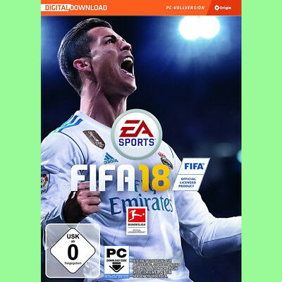 FIFA 18 PC CD Key - Fussball 2018 Spiel EA Origin Download Code DE EU