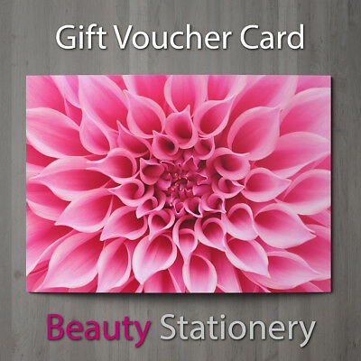 Gift Voucher Beauty Salon Blank Card Coupon Massage Nail Hairdressing A7 + Env.
