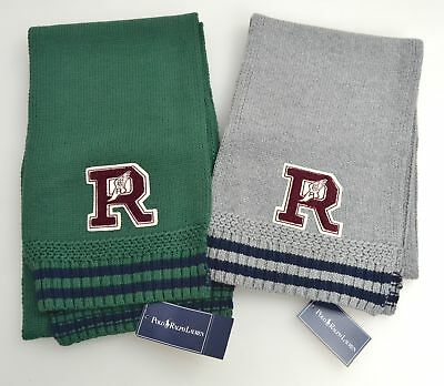 Polo Ralph Lauren Junior Boy Scarf Green Or Grey Code Ahlfv B0314