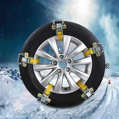 Car Snow Tire Anti-skid Chains Thickened Beef Tendon Auto Wheel Steel Chain 1pc