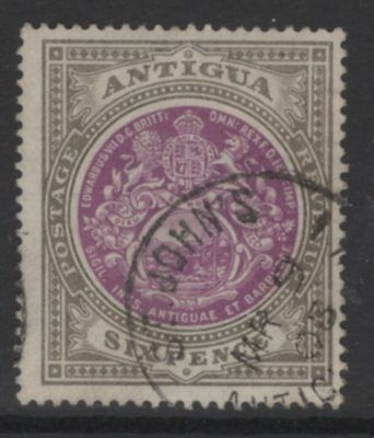 ANTIGUA SG36 1903 6d PURPLE & DRAB FINE USED