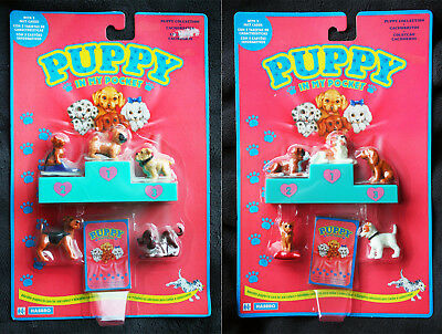 PUPPY IN MY POCKET PACK (HASBRO, 1993). 3 VERSIONS, 15 Different PUPPIES. BNIB!