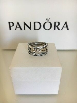 New Pandora Entwining Silver Ring S925 ALE.Size 58