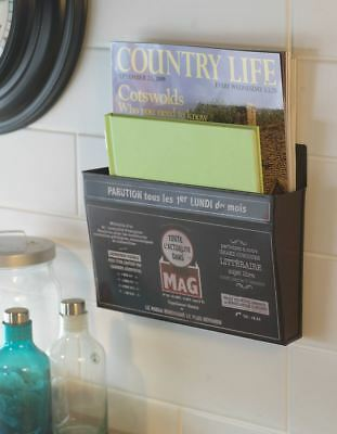 Wall Mounted French Inspired Magazine / Newspaper Rack - Paris Mag