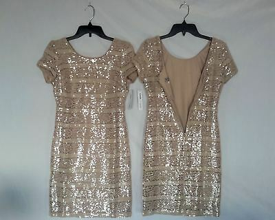 Wholesale Lot of Designer Dresses Donna Ricco Sequin Beige Brand New Manifest