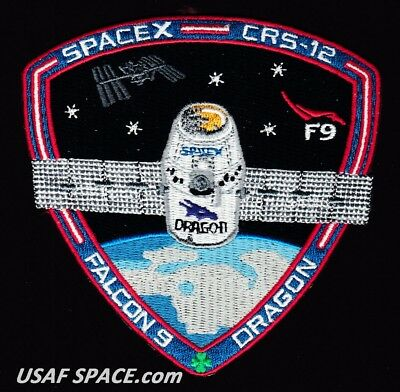 CRS-12 - SPACEX ORIGINAL FALCON-9 DRAGON F-9 ISS NASA RESUPPLY Mission PATCH