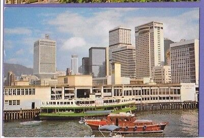 Star Ferry Pier Hong Kong Original Vintage Postcard Ao