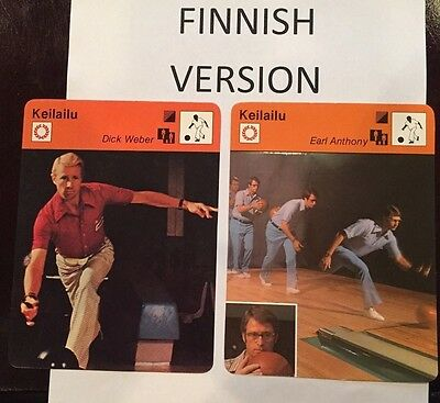 EARL ANTHONY - DICK WEBER 1977-78 FINNISH Sportscaster cards  -  Finland