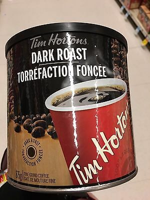 Canada Tim Hortons Dark Roast Grind Coffee 875g can