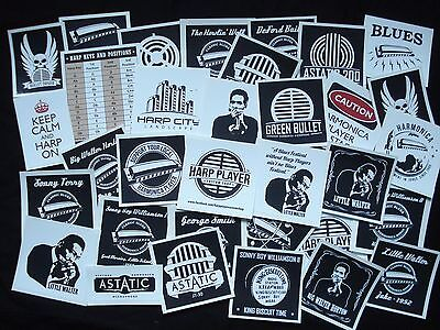 Harmonica stickers - custom designed blues harp stickers, position charts etc.