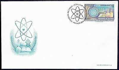 Chile 1984 Fdc Cover # 1081 Nuclear Energy Science