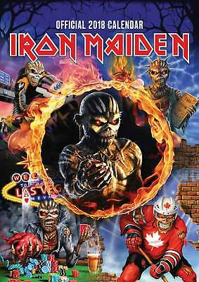 Iron Maiden Official A3 Calendar 2018
