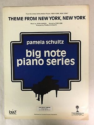 Vintage Sheet Music - Theme From New York, New York -1977 Big Note Piano Series